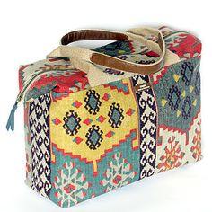 Kilim Handcrafted Carpet Bag - luggage