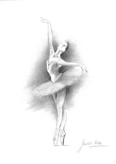 BALLERINA. Art Print of original graphite pencil drawing by Ewa Gawlik.