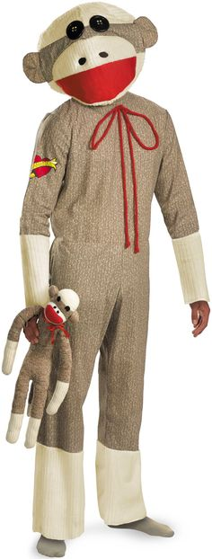 Sock Monkey Adult Costume from BuyCostumes.com