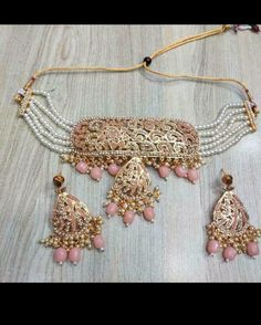 Indian Bollywood, Bollywood Fashion, Bollywood Style, Girls Jewelry, Necklace Set, Earring Set, Antique Jewelry, Jewlery, Chokers