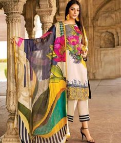 Charima summer collection Fabric lawn 3 pc Brand code Front emb Border heavy emb Trouser emb Chiffon duppta whatsapp 03344888860 to order Maria B, Pakistani Dresses Online, Eid Dresses, Pakistani Outfits, Pakistani Fashion Casual, Pakistani Street Style, Pakistani Designer Suits, Pakistani Dress Design, Eid Outfits