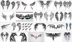 Tribal Cross With Wings Tattoo Design photo - 5 Tattoos For Guys, Girl Tattoos, Tattoos For Women, Neck Tattoo For Guys, Neck Tattoos, Tatoos, Small Sister Tattoos, Small Tattoos, Tattoos With Meaning