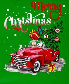 Merry Christmas: Charlie Brown and Snoopy bringing Christmas cheer in a bright-red vintage truck. Merry Christmas Charlie Brown, Peanuts Christmas, Christmas Truck, Charlie Brown And Snoopy, Christmas Humor, Xmas, Christmas Bible, Christmas Quotes, Snoopy Images