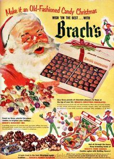 Brachs Chocolates Xmas Ad 1952