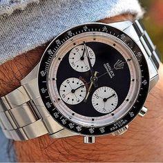 Beautiful Rolex Daytona Paul Newman on the wrist of Rolex Daytona Paul Newman, Rolex Daytona Watch, Rolex Cosmograph Daytona, Rolex Paul Newman, Dream Watches, Sport Watches, Cool Watches, Rolex Watches, Fine Watches
