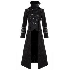 Punk Rave Scorpion Womens Coat Long Jacket Black Goth Steampunk Hooded... ($165) ❤ liked on Polyvore featuring outerwear, coats, jackets, tops, black coat, long black jacket, long jacket, women coats and goth coat