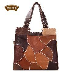 Cobbler Legend women messenger bags 2015 new Top Quality Retro hit color stitching diagonal shoulder bag handmade leather bag