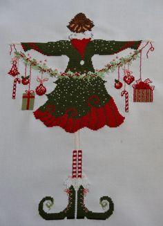 Cross Stitching, Cross Stitch Embroidery, Christmas Cross, Xmas, Crossstitch, Needlework, Whimsical, Facebook, Holiday Decor