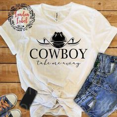 Cowboy take me away, soft feel, unisex fit, fast shipping #BellaCanvas #Basic #rodeo