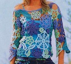 Camisetas de ganchillo: fotos diseños - Ganchillo de colores