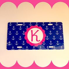 Did you know that you can design your own license plate?! #monogram #licenseplate #anchor