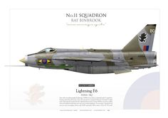 ROYAL AIR FORCE No.11 Squadron. RAF Binbrook'The Last Lightning Squadron' Pilot Fl Lt B. P. CARROLL