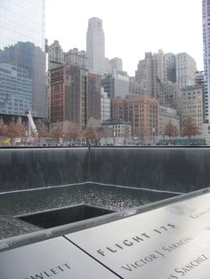 The World Trade Center Memorial - one of the most quietest spots in the city. All you hear is the water.