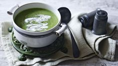 Broccoli soup |      This simple soup is on the table in under 30 minutes. Serve with plenty of buttered toast.