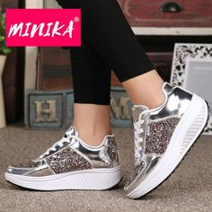Women Chunky Sneakers Casual Lace Up Shoes Platform Wedge Walking Shoes Chunky Sneakers, Casual Sneakers, Sneakers Fashion, Casual Shoes, Shoes Sneakers, Women's Shoes, Fashion Shoes, Nude Shoes, Lace Up Shoes