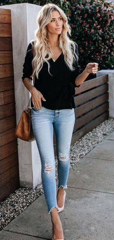 3f4822c3380fe2 9 Best black blouse outfit images in 2019