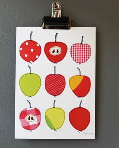 9 sweet and sour apples - art print. €7.50, via Etsy.