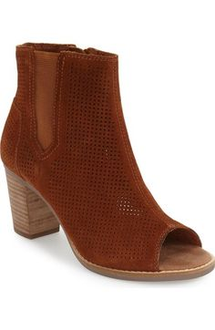 TOMS 'Majorca' Suede Bootie (Women) available at #Nordstrom
