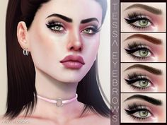Tessa Eyebrows N126 for The Sims 4
