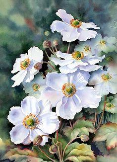 Flower painting by artist Ann Mortimer.