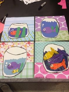 2nd Grade artists are learning about the art of Henri Matisse. They learned that he loved color and that at the end of his life, he lov...