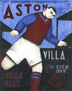 Aston Villa poster by Paine Proffit