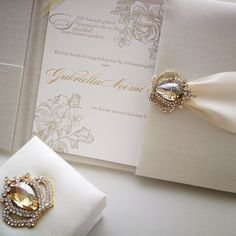 """Stationery & Floral Design on Instagram: """"Letterpress combined with gold hot foil and ivory silk folio is just a high end invitation. All hand made. A little extra for the guests at…"""""""