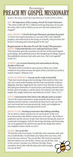 Preach My Gospel Missionary LDS Printable
