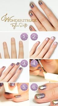 TAYLOR SWIFT INSPIRED NAILS!!    this is perfect for the concert friday!!