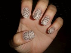Tribal Aztec Nail Designs