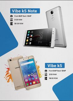 Lenovo Vibe K5 and K5 Note Smartphone !! Stylish Design,4G Connectivity,Expandable Storage, Large Battery.This is the eye-catching smartphone,  Dolby Atmos®Audio and advanced digital sound technology.