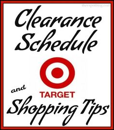 Target Clearance Schedule & Shopping Tips - The V Spot