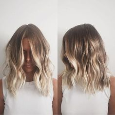 Here's Every Last Bit of Balayage Blonde Hair Color Inspiration You Need. balayage is a freehand painting technique, usually focusing on the top layer of hair, resulting in a more natural and dimensional approach to highlighting. Hair Day, New Hair, Hair Color And Cut, Summer Hair Colour, Nice Hair Colors, Beach Hair Color, Hair Color Balayage, Short Balayage, Balayage Hair Blonde Medium