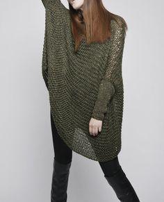 Suéter de mujer de gran tamaño / punto suéter en por MaxMelody