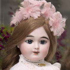 "23"" Antique French Eden Bebe doll by Fleischmann & Blodel, Depose, Angelic Face"