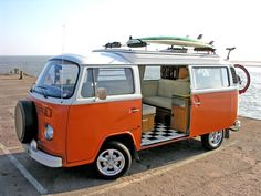 classic VW Type 2 campers being a beach bum for a few nights would be fun