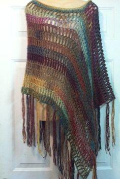 Light As A Feather Crochet Poncho Pattern door kjbryandesigns