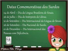 Datas comemorativas dos surdos.