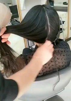 Hair Cutting Videos, Hair Cutting Techniques, Hair Videos, Cutting Hair, Easy Hairstyles For Long Hair, Curled Hairstyles, Diy Hairstyles, Wedding Hairstyles, Overnight Hairstyles