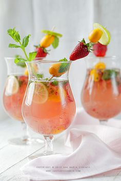 Strawberry Mint Mojito #recipe