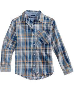 NWT Tommy Hilfiger Big Boys Chance Plaid Cotton Shirt M 12-14 #TommyHilfiger #DressyEverydayHoliday