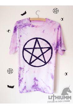 Pentagram pastel pink purple tie dye tshirt! https://www.etsy.com/uk/listing/199683038/pentagram-pastel-tie-dye-tshirt-pentacle?