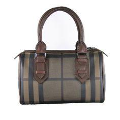 Amazon.com: BURBERRY Smoke Check Chester Bowling Handbag: Shoes