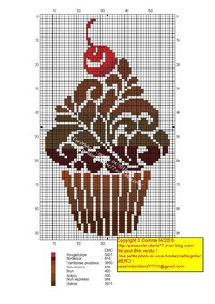 Cross Stitch Charts, Cross Stitch Patterns, Cupcake Cross Stitch, Blackwork Embroidery, Cross Stitch Kitchen, Dmc, Chrochet, Cross Stitching, Needlework