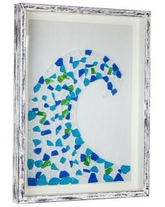 Sea Glass Mosaic Ideas with a Coastal Theme -Shop or DIY! Featured on Completely Coastal.
