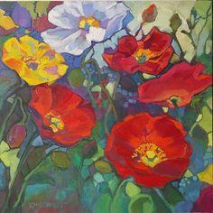 Louisiana Edgewood Art Paintings by Louisiana artist Karen Mathison Schmidt: Summer Tapestry, and studio windows!