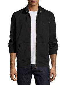 BURBERRY Sheltone Front-Zip Sweatshirt. #burberry #cloth #