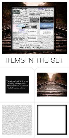"""""""..."""" by themadonexd ❤ liked on Polyvore featuring art, emo, depressed, crying, suicidal and Thinkoftheuniqueones"""