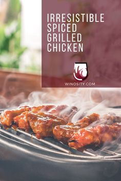 Sometimes, a delicious dinner can be a simple spiced grilled chicken recipe. If you feel like working on your grilling skills, then you must try this Moroccan-styled marinated chicken recipe for your next family meal. Pair this well-seasoned grilled chicken with an ice-cold low-alcohol white wine. #recipesonthegrill #recipeforgrilledchicken #recipeswithchicken #whattogrillfordinner #pairingwineandfood #foodandrecipes Chicken Recipe With Wine, Chicken Wine, Grilled Chicken Recipes, Marinated Chicken, Grilled Meat, Best Dinner Recipes, Side Dish Recipes, Great Recipes, Wine Dinner