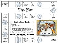 create a game out of Hat and Mitten.  Work on comprehension strategies